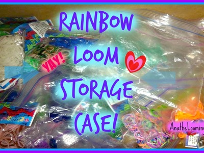 Rainbow Loom Rubber Band Storage Case