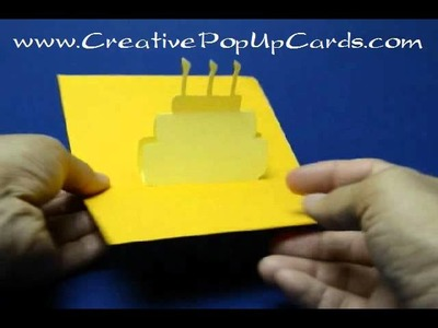 Simple Birthday Cake Pop Up Card Version 1