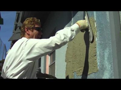 Skim coat over, stucco, cinder block, brick or plaster
