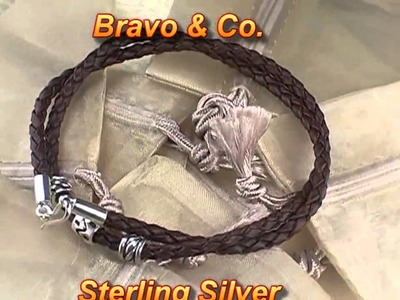 Sterling Silver NEW Leather Cord Necklace N-255