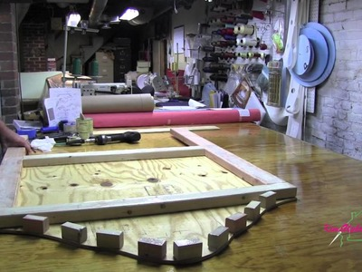 Upholstery How to Build A  Headboard  Part 1