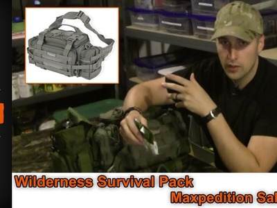 Wilderness Survival Kit, Maxpedition Sabercat, Equip 2 Endure