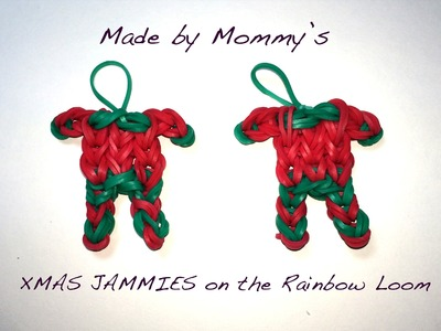 XMAS JAMMIES on the Rainbow Loom - Christmas Pajama Charm!