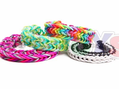 Zig Zag Fishtail - EASY Rainbow Loom Bracelet Tutorial