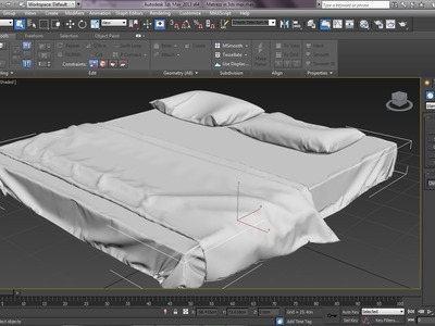 3ds Max Tutorial|Realistic Interiors with Marvelous Designer|Bedsheet,Pillow & Blanket|Part 1