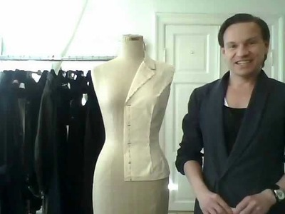 5. How to drape a basic ladies' jacket, the sleeve - by bespoke tailor Sten Martin