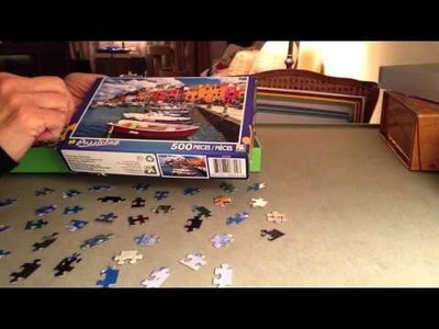 ASMR jigsaw puzzles and soft spoken ramble