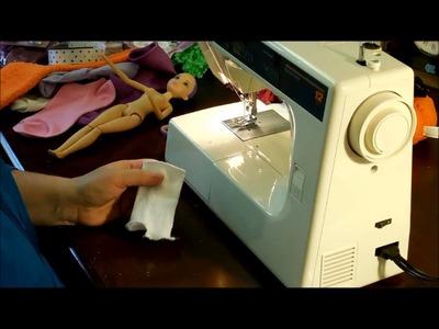 Barbie Doll - Shirts, Dresses, Hats & Belts from Socks & Ribbons