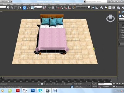 Bed pillows blanket 3d max tutorial