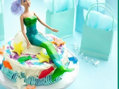 Birthday Cake Ideas: Easy Mermaid Birthday Cake