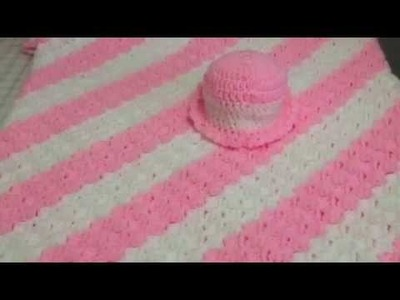 Corner to Corner Baby Blanket & Hat Set