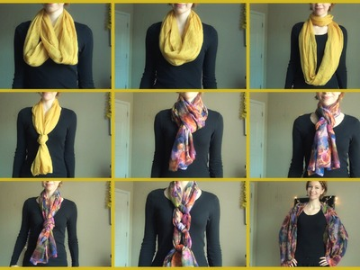 Different Ways to Tie and Wear a Scarf!