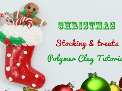 DIY Christmas Stocking with Treats Polymer Clay | Collaboration w. Little Sprinkles