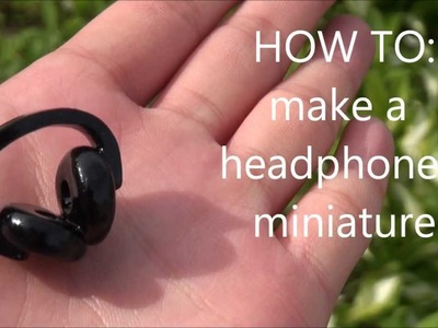 DIY Headphones Miniature Polymer Clay Charm Tutorial