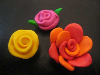 (DIY) How to make flowers - polymer clay