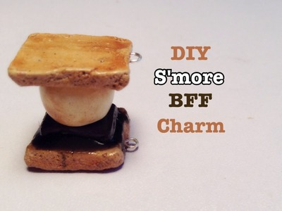 DIY polymer clay charms:  S'mores BFF charm
