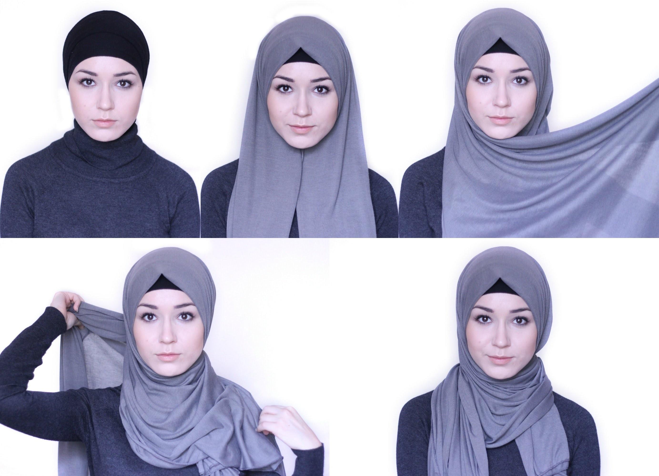 Как мусульманки завязывают платок на голову фото пошагово