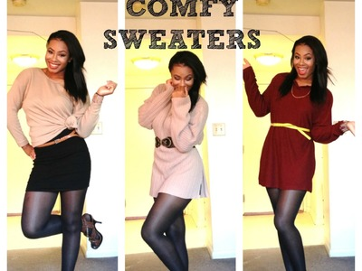 ♡ Holiday| How to Style Big Comfy Sweaters ♡