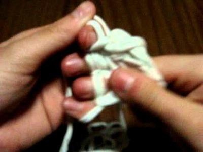How to make a finger weave bracelet