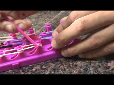 How to make a Rainbow Bridge with Crazy Loom!