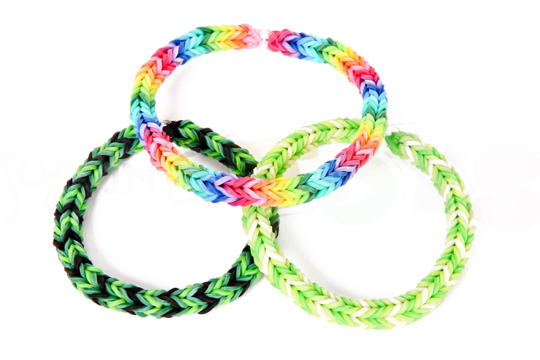 How to Make a Three Pin Fishtail Rainbow Loom Bracelet
