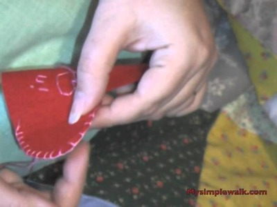 How to sew a blanket stitch, an ornament, Valentine gift