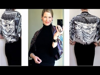 How to tie an Hermes scarf into a shrug