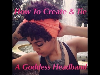 How to turn a scarf into a cute headband
