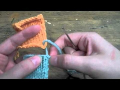 Mattress stitch with BO and CO edges