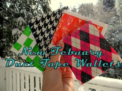 New Febuary Duct Tape Craft's And  Wallets