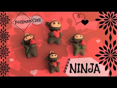 NINJA - Polymer Clay Charm - How To - SoCraftastic