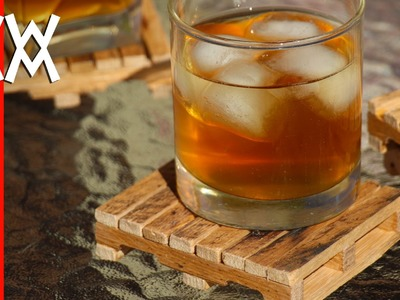 Pallet drink coasters made from, well, pallets! Easy to make.