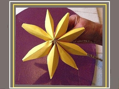 Paper tree top star, dimensional.  Easy last minute tree topper