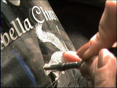 PART 1 - Glass Engraving - Christening goblet - Lesley Pyke