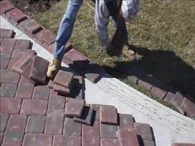 Paver Installation on Concrete Using Mason Bond