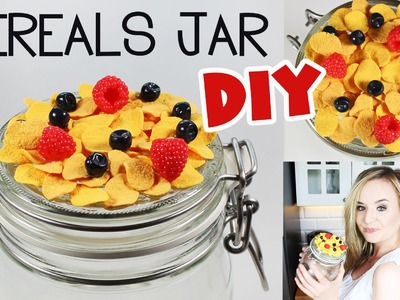 Polymer clay Cereals TUTORIAL | CEREAL JAR DIY