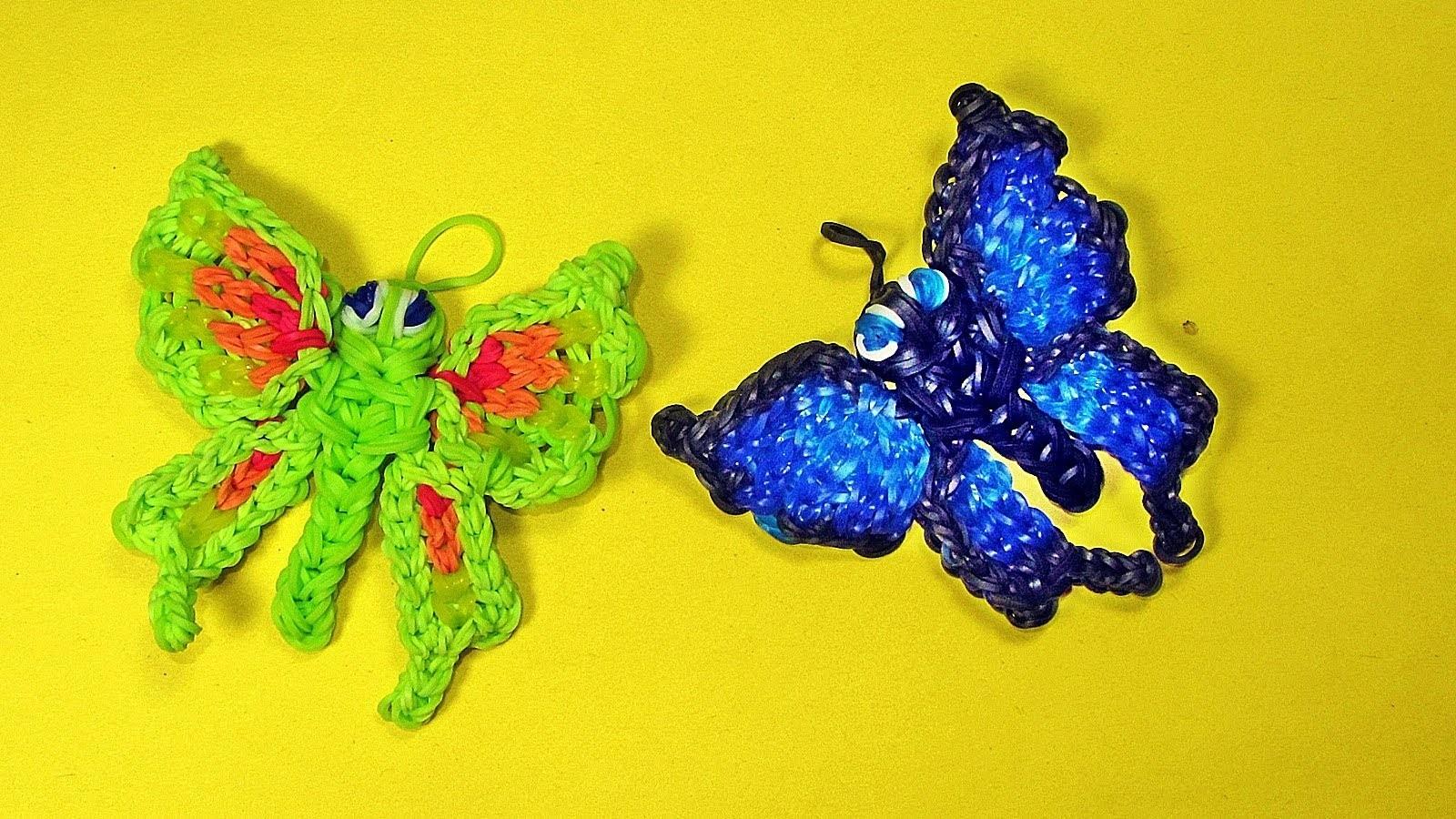 Rainbow Loom Charms Butterfly Tutorial