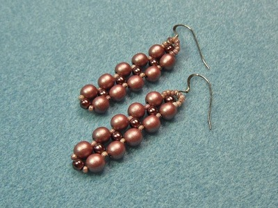 Right Angle Weave Earrings Video Tutorial