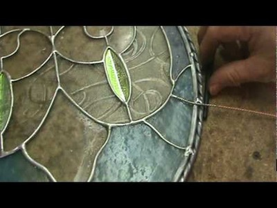 Stained glass how to ideas sg28a hangers on an oval panel
