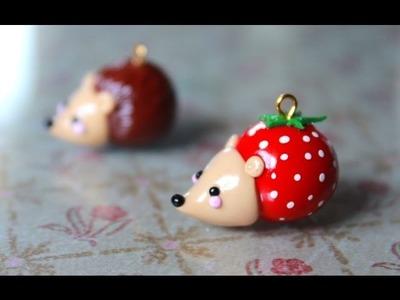 Strawberry Hedgehog Polymer Clay Tutorial