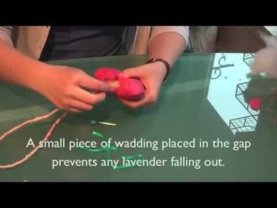Textiles project - make a heart-shaped lavender bag