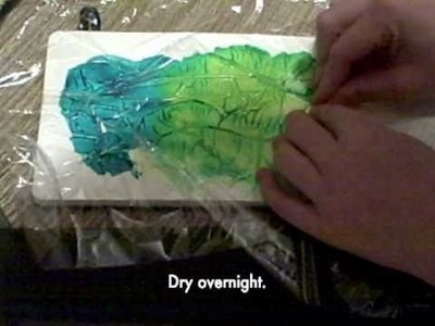 The One Minute Muse | Art Journal Technique | Saran Wrap