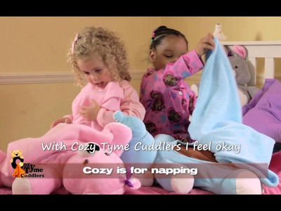 """The Security Blanket and Stuffed Toy on Steroids: Cozy Tyme Cuddlers.  3 """"Toys"""" in 1"""