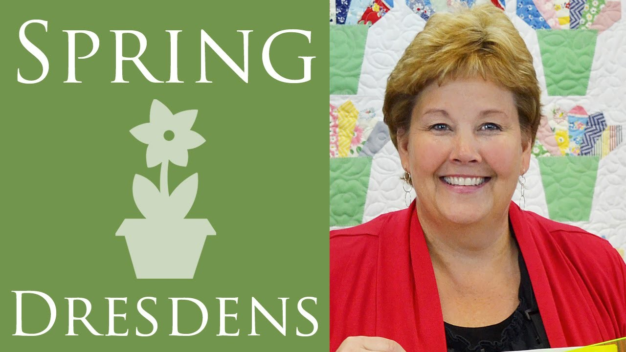 The Spring Dresdens Quilt: Easy Quilting Tutorial with Jenny Doan of Missouri Star Quilt Co