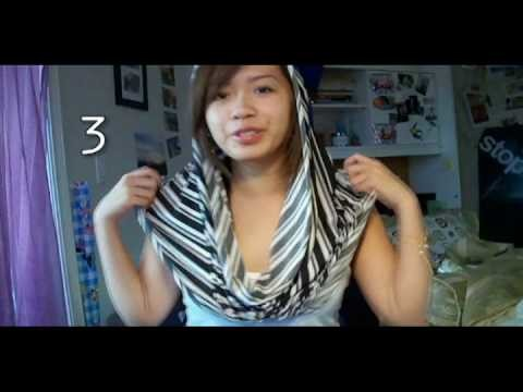 Ways to Wear a Circle.Infinity Scarf & Make your Own!