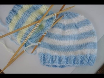 Working On DPNs Right Handed, and Complimentary Baby Hat Pattern