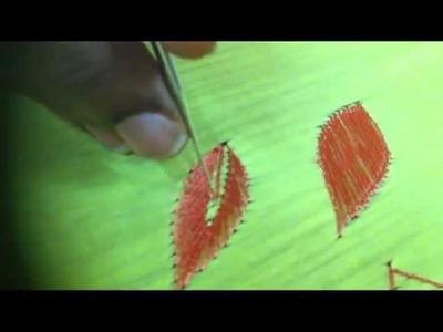 Aari Embroidery -Filling stitch in aari