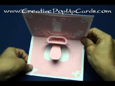 Baby Shower Pop up card: Pacifier