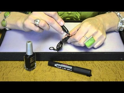 Black Enamel Jewelry Touch Up Techniques with Class and Sass