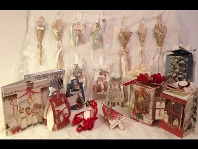 Christmas ornaments,gift boxes, cards, tussy mussy and more - Tutorial